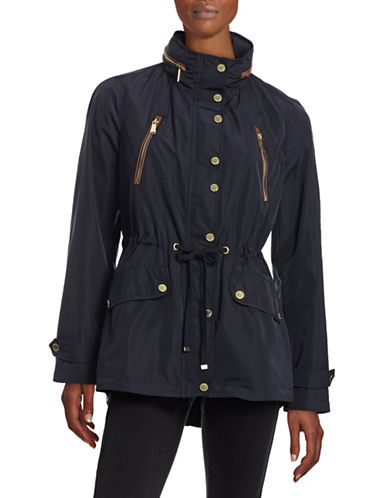 Michael Michael Kors Packable Hood Anorak-NAVY-Large