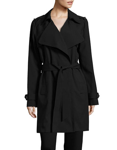 Michael Michael Kors Belted Trench Coat-BLACK-X-Large 88926080_BLACK_X-Large