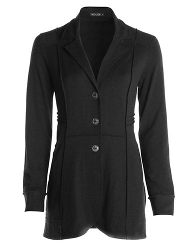 Nic+Zoe Seamed Riding Jacket-BLACK-Large