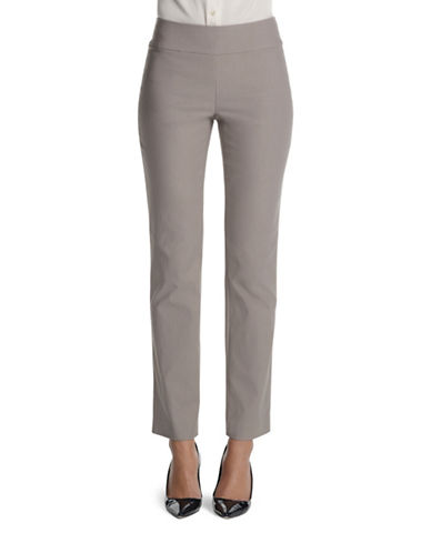 Nic+Zoe Plus Wonder Stretch Pants-GREY-24W