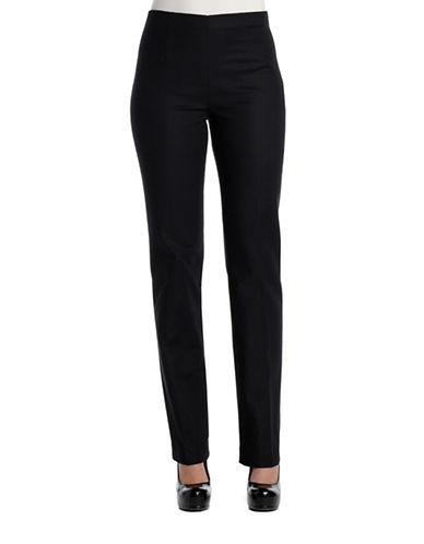 Nic+Zoe Plus Perfect Slim Leg Pants-BLACK-22W
