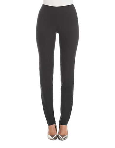 Nic+Zoe PETITE Wonder Stretch Solid Ankle-Length Pants-BLACK-4P