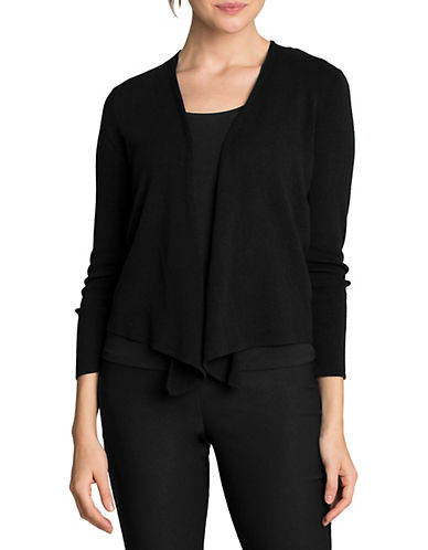 Nic+Zoe Four-Way Convertible Cardigan-BLACK-Small