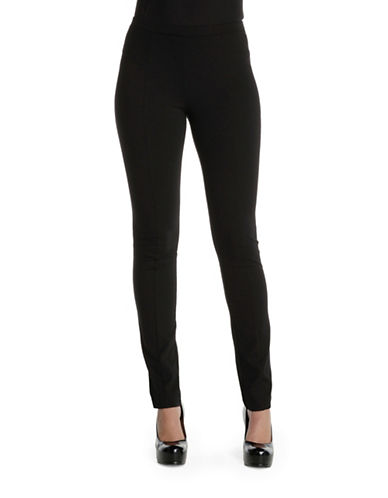Nic+Zoe Plus Slim Leg Ponte Pants-BLACK-22W
