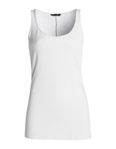 Nic+Zoe Plus Tank Top-WHITE-3X