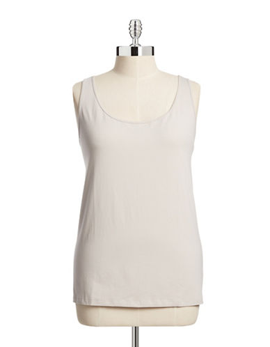 Nic+Zoe Plus Tank Top-GREY-3X