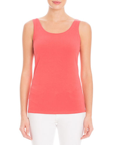 Nic+Zoe Relaxed Fit Tank Top-PINK-X-Large