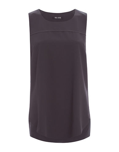 Nic+Zoe Sleeveless Tank Top-GREY-X-Large 88185414_GREY_X-Large