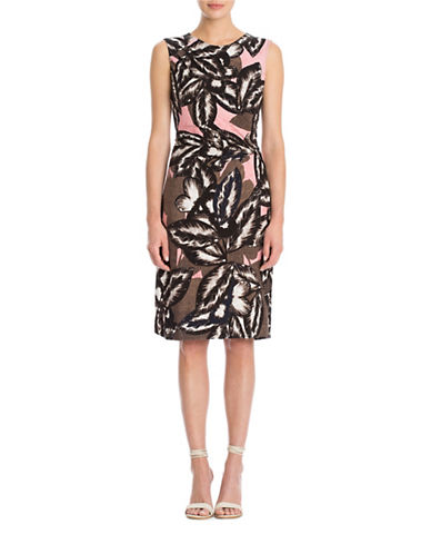 Nic+Zoe Plus Aloha Twist Sheath Dress-MULTI-COLOURED-1X
