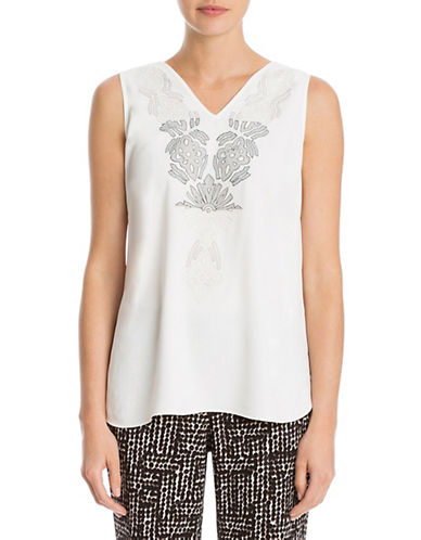 Nic+Zoe Lovely Lai Tank Top-WHITE-X-Small 88544623_WHITE_X-Small