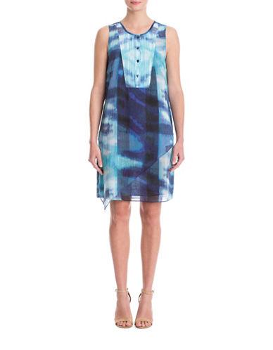 Nic+Zoe Plus Fit and Flare Tunic Dress-MULTI-COLOURED-1X