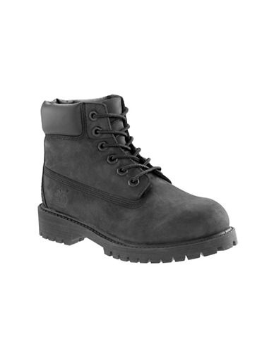 Timberland Premium Waterproof Leather Lace-Up Boots-BLACK-2
