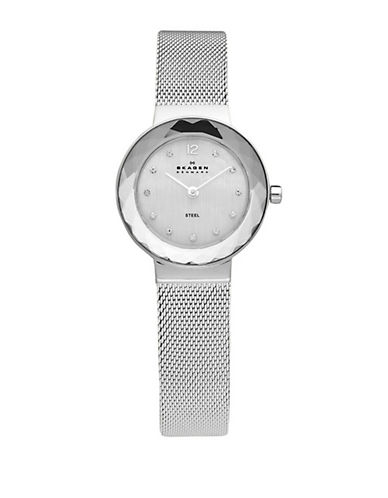 Skagen Stainless Steel Mesh Bracelet With Silver Dial Watch-SILVER-One Size