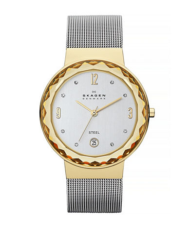 Skagen Womens classic tailored and beautiful Danish designed watch-TWO TONE-One Size