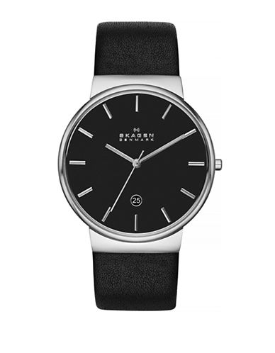 Skagen Mens Ancher Standard SKW6104-BLACK-One Size