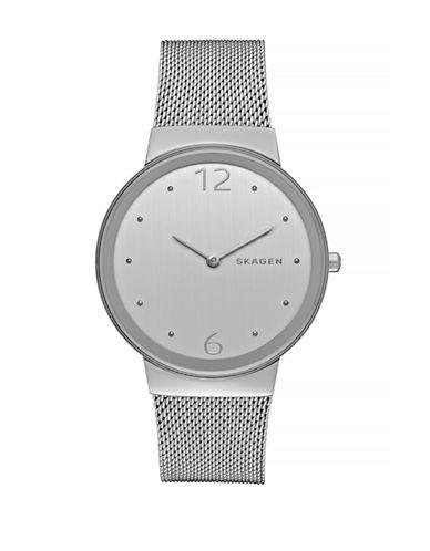 Skagen Freja Steel Mesh Bracelet Watch-SILVER-One Size