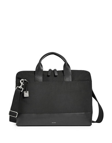 Skagen Peder Slim Nylon Briefcase-BLACK-One Size
