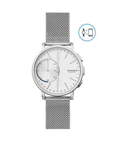 Skagen Hagen Connected Stainless Steel Hybrid Smart Watch-SILVER-One Size