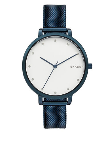Skagen Analog Hagen Stainless Steel Watch-BLUE-One Size