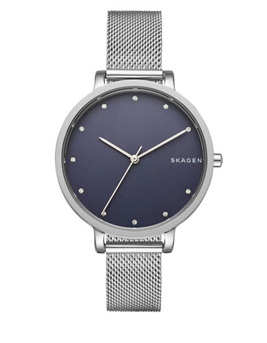 Skagen Analog Hagen Watch-SILVER-One Size