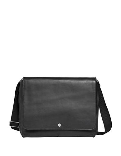Skagen Eric Leather Messenger Bag-BLACK-One Size