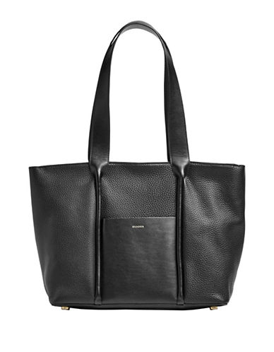 Skagen Lisabet Textured Leather Tote-BLACK-One Size 89065368_BLACK_One Size