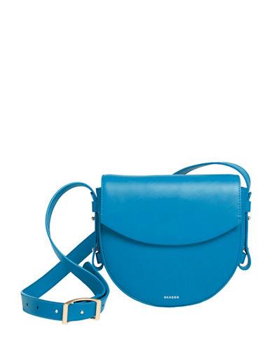 Skagen Lobelle Leather Saddle Bag-MARINE-One Size
