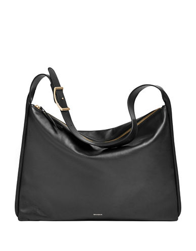 Skagen Anesa Leather Shoulder Bag-BLACK-One Size
