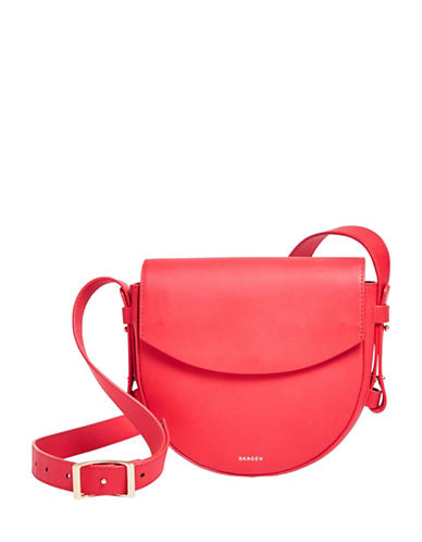 Skagen Lobelle Leather Saddle Bag-LOTUS-One Size