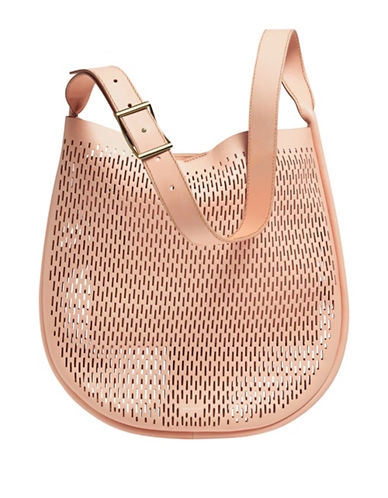 Skagen Janna Vachetta Leather Hobo Bag-NATURAL-One Size