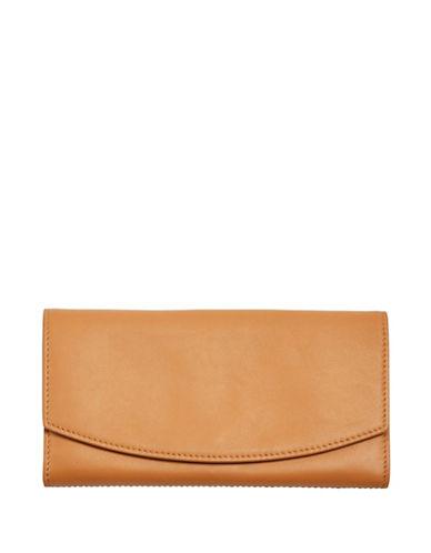 Skagen Continental Leather Flap Wallet-TAN-One Size