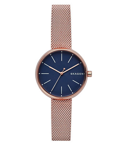 Skagen Analog Signature Rose-Goldtone Mesh Bracelet Watch-ROSE GOLD-One Size