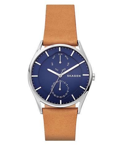Skagen Holst Multifunction Strap Watch-BROWN-One Size