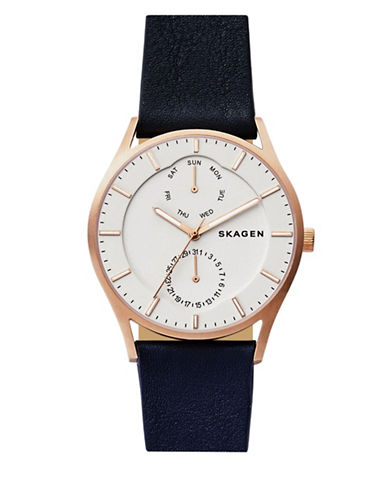 Skagen Holst Multifunction Strap Watch-BLUE-One Size