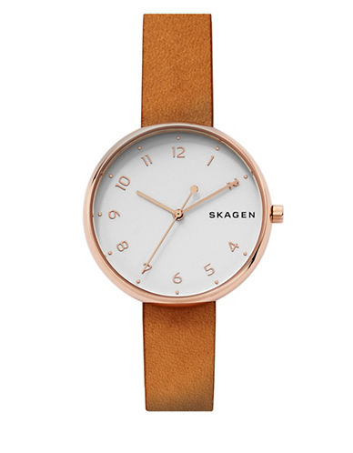 Skagen Signatur Analog Bracelet Watch-BROWN-One Size