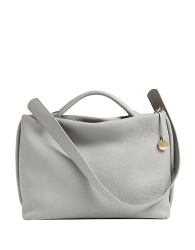 Skagen Mikkeline Zip Satchel-GREY-One Size