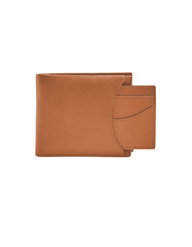 Skagen Leather Bifold Wallet-BROWN-One Size