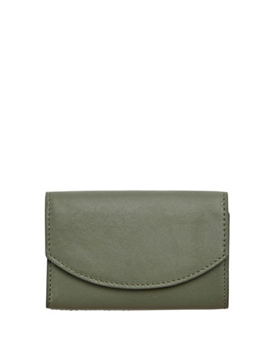 Skagen Leather Flap Card Case-AGAVE-One Size