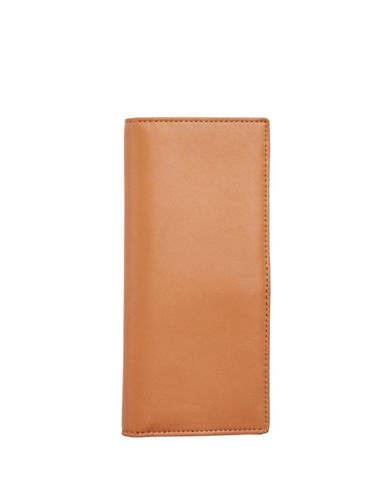 Skagen Slim Vertical Leather Wallet-TAN-One Size