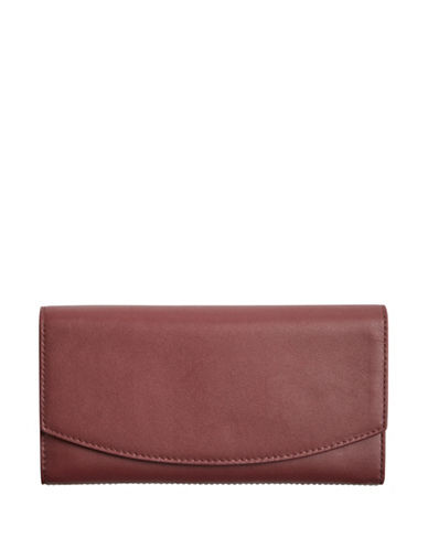Skagen Continental Flap Wallet-RED-One Size