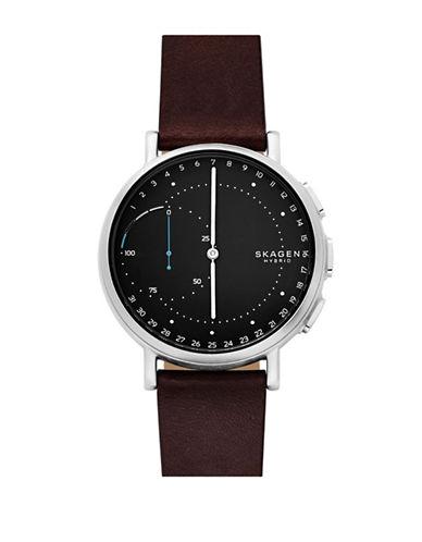 Skagen Hybrid Analog Smartwatch-SILVER-One Size