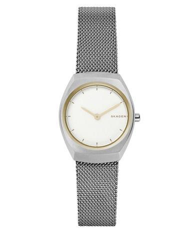 Skagen Asta Analog Mesh Bracelet Watch-SILVER-One Size