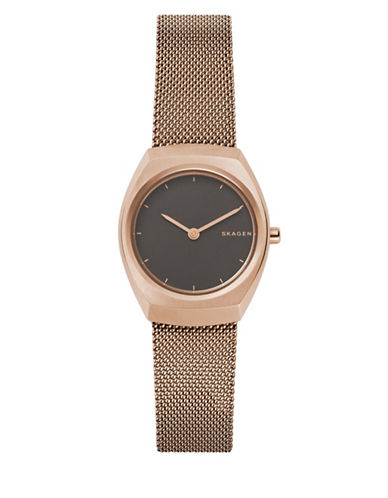 Skagen Analog Asta Rose-Goldtone Mesh Bracelet Watch-ROSE GOLD-One Size