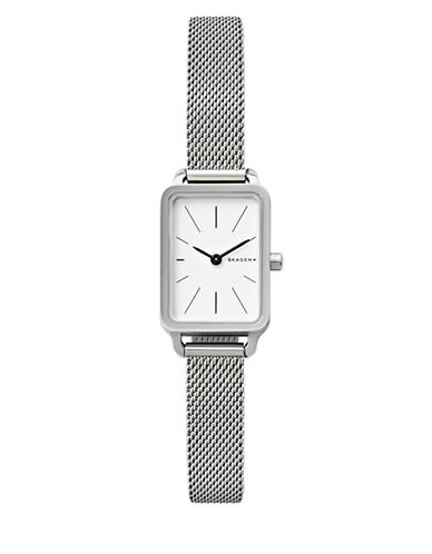 Skagen Analog Hagen Stainless Steel Mesh Bracelet Watch-SILVER-One Size