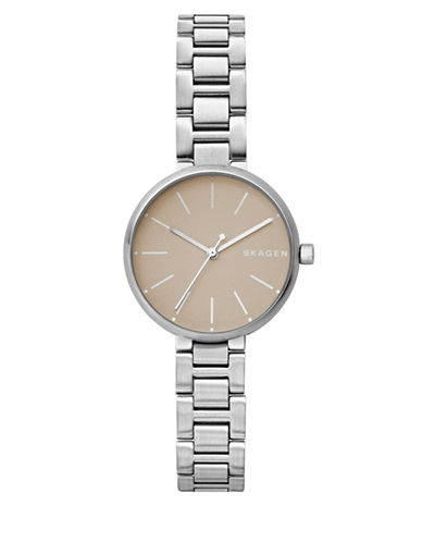 Skagen Signatur Analog Steel-Link Bracelet Watch-SILVER-One Size