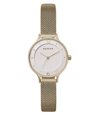 Skagen Anita Goldtone Stainless Steel Mesh Bracelet Watch-ROSE GOLD-One Size