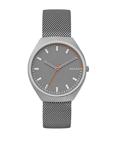 Skagen Analog Grenen Stainless Steel Mesh Bracelet Watch-SILVER-One Size