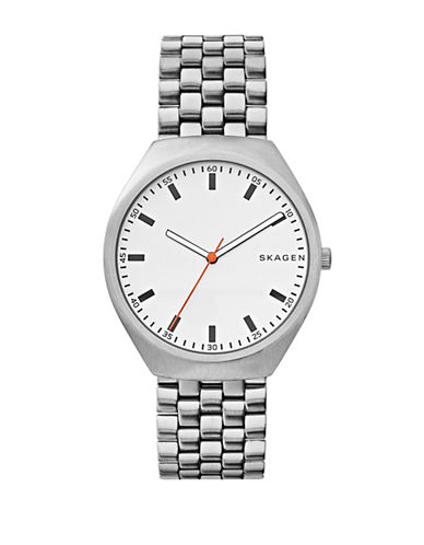 Skagen Grenen Stainless Steel Mesh Bracelet Watch-SILVER-One Size