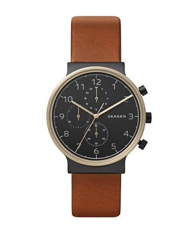Skagen Ancher Chronograph Watch-BROWN-One Size