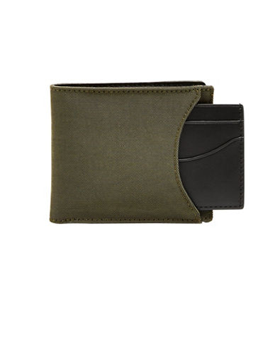 Skagen Two-Tone Passcase Wallet-DARK GREEN-One Size